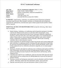 example of hvac resume hvac sample resume hvac technician sample resume
