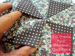 3-D Prairie Point Pinwheel Quilt Block - & 3-D Prairie Point Pinwheel Quilt Block Tutorial | patchworkposse | easy  sewing projects and Adamdwight.com