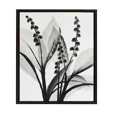 black and white canvas art inspirational hand painted modern black white flower oil painting on