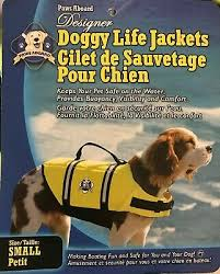 Paws Aboard Designer Doggy Life Jacket Neon Yellow Small