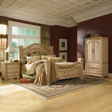 Home Furniture Showroom Displaying Bedroom Design with Brown Finish Walls