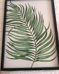 green plants framed print 3 pack home