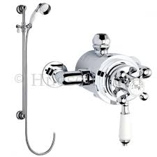 hudson reed traditional dual exposed thermostatic shower valve slider rail kit