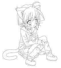 Anime Cats Coloring Pages At Getdrawingscom Free For Personal Use