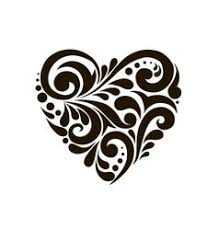 Beautiful Patterns Amazing Heart With Beautiful Patterns Royalty Free Vector Image