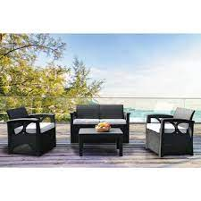 biscayne bay 4 piece patio seating set