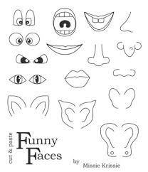 Funny Face Templates Blank Face Templates With Face Parts By Twinkl Printable
