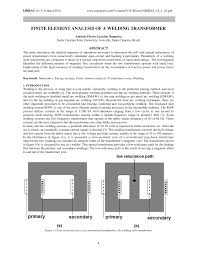 transformer core size chart pdf pdf finite element analysis of a welding transformer