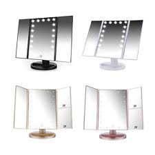 makeup light stand. easehold tri-fold touch 21 led light stand vanity makeup circle magnify mirror g
