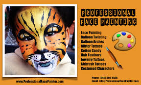 professional face painter and balloon twisting for hire in orange county california