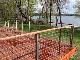 Cable Deck Railing Ideas Jbeedesigns Outdoor Aluminum Cable Deck