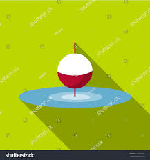 small floating bobber icon flat illustration stock vector