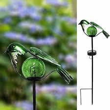 blue humming bird led solar powered