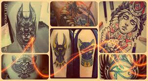 египетские тату фото примеры классных татуировок и интересная