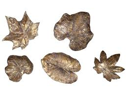 uttermost alternative wall decor bronze leaves wall art set of 5  on leaf wall art set with uttermost alternative wall decor bronze leaves wall art set of 5