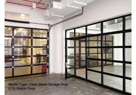 Aluminum Full View Glass Garage Doors On Restaurant Full Roll Up