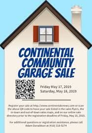 2019 Continental Community Garage Sales Continental Enews