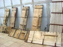 unred chinese antique door