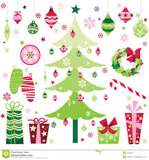 Christmas Decoration Design Retro Christmas Design Elements Stock Vector Illustration of 27