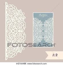 Invitation Envelope Template Wedding Invitation Or Greeting Card With Abstract Ornament