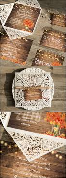 best 25 rustic wedding invitations ideas only on pinterest Diy Wedding Invitations Fall Theme string lights inspired laser cut country rustic wedding invitations Fall Color Wedding Invitations