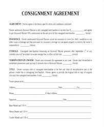 Agreement In Pdf Delectable Consignment Agreement Template Consignment Agreement Form Sample