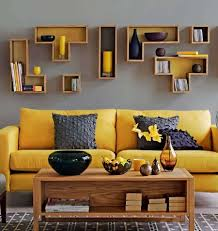 Yellow and grey living room! I love the color combo! I wouldn't have a yellow  couch though.