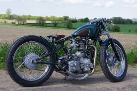 custom bobber using royal enfield electra by old empire motorcycles
