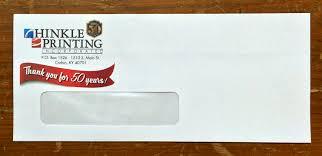 Size Of 10 Envelope Hinkle Printing Envelopes