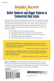 buy confessions of a real estate entrepreneur what it takes to buy confessions of a real estate entrepreneur what it takes to win in high stakes commercial real estate book online at low prices in confessions