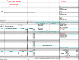 excel invoice template printable invoice template hvac invoice template microsoft excel