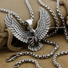 whole 925 sterling silver eagle holding red cz stone fashion pendant 9l003necklace 24inch gold pendant necklaces mens pendant necklaces from uphot