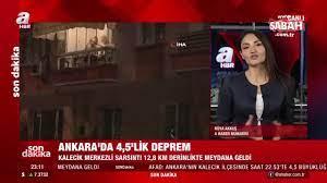 Ankara'da 4,5 büyüklüğünde deprem videosunu izle | Son