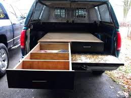 diy pickup bed storage how to install a sliding truck bed drawer system homemade truck bed