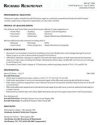 Sample Aircraft Mechanic Resume Download Aircraft Mechanic Resume