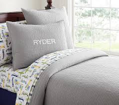 Kingston Quilted Bedding | Pottery Barn Kids - Twin quilt $99 ... & Kingston Quilted Bedding | Pottery Barn Kids - Twin quilt $99, solid gray Adamdwight.com