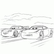 Cars Kleurplaat Spelletjes