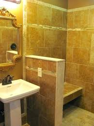 floating shower seat support small knee wall wrapped in tile and stone gives support to a floating shower seat