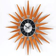 wooden sunburst wall clock rm2201 3