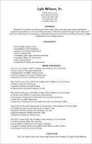 Stylish Ideas Truck Driver Resume Example Truck Driver Resume Sample