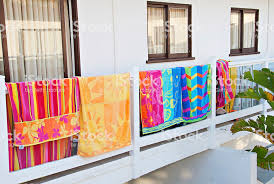Image Hanging Above Beach Towels Hanging On Hotel Balcony Royaltyfree Stock Photo Istock Beach Towels Hanging On Hotel Balcony Stock Photo More Pictures Of