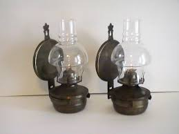 kerosene lamp antique brass wall oil lamp vintage rustic metal wall