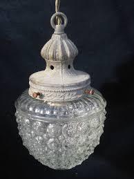 bubble lighting fixtures. Old Glass Shade Bubble Pendant Light Fixture, Vintage Cast Metal Hanging Lamp Lighting Fixtures E