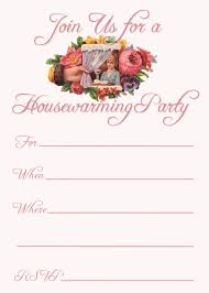 Printable Housewarming Party Invitation Free Templates Baby Shower