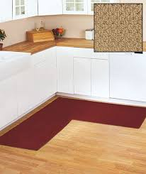 l shaped kitchen rug