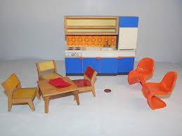 mid century modern dollhouse furniture. VTG Bodo Hennig Germany Dollhouse Mid Century Modern Miniature Kitchen Set Furniture