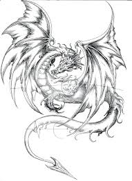 Real Dragon Coloring Pages At Getdrawingscom Free For Personal