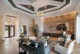 Modern accent wall ideas living room contemporary with white ceiling  molding gray ceiling white trim