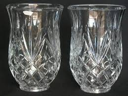up for your consideration are these beautiful hurricane lamp cut glass or crystal chimney shades candle holders in very nice condition