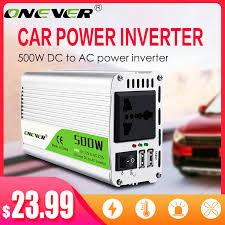 Onever 500W Inverter 12 V 220 V Voltage Transformer <b>DC To AC</b> ...
